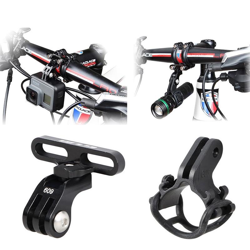 Bicycle Support Stand Handlebar Stem Mount Bike Light Holder for GoPro Hero 8 7 6 5 4 Xiaomi yi 4K Sjcam EKEN Camera Accessories