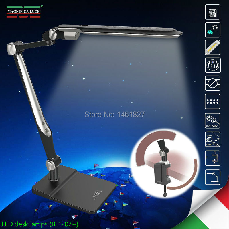 Clip and base LED Memory function10W LED Desk Lamps office table lamp student reading lamps fashion lights Free rotation Angle freeshipping glass clip base ns4802