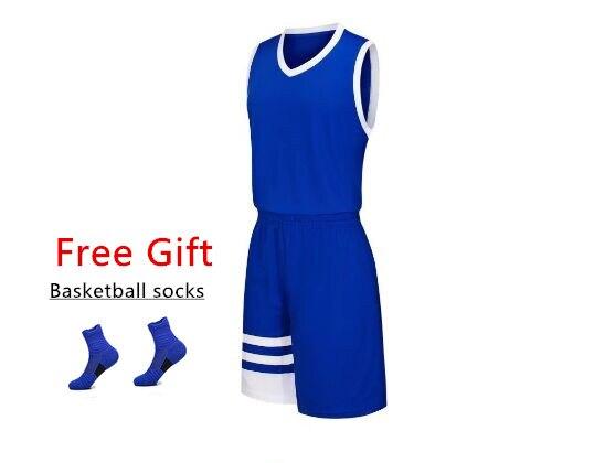 2018 ילדים כדורסל ג 'רזי סטי מדים ערכות ילד ומבוגר ספורט בגדים לנשימה נוער אימון כדורסל גופיות קצר