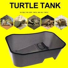 Резервуар для черепахи черепаха обитания пластиковые товары для домашних животных рептилия Террапин эффективный балкон практичная вода рыба