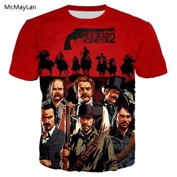 Redemption, Camiseta con estampado 3D para hombre/mujer, camiseta de hip-hop, camiseta para hombre, camiseta 2019 Nueva Juventud, camiseta casual de tendencia, ropa