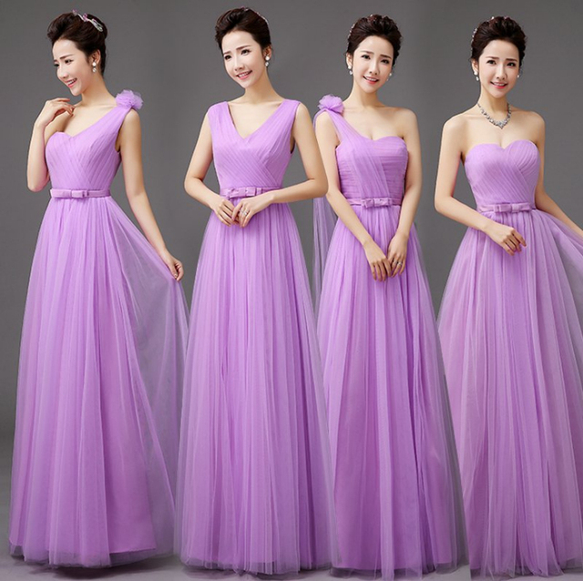 2017 vestidos de festa plus size bridemaid mariage lavender dress ...