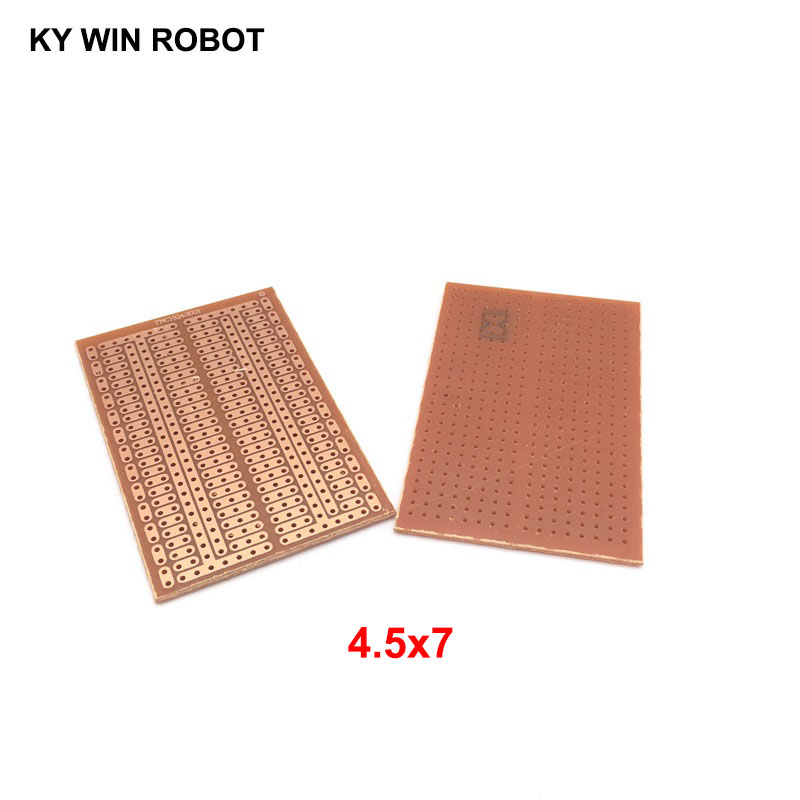 2pcs/lot DIY 4.5*7CM Prototype Paper PCB Universal Experiment Matrix Circuit Board 4.5x7CM