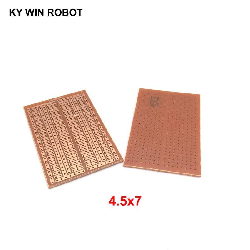 2pcs/lot DIY 4.5*7CM Prototype Paper PCB Universal Experiment Matrix Circuit Board 4.5x7CM