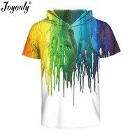 Joyonly 2017 Neue Ölgemälde Drucken T-shirt Mit Hut Männer frauen Sommer Kurzarm Lustige Outfit Cool 3D T-Shirt Casual Tops Tees