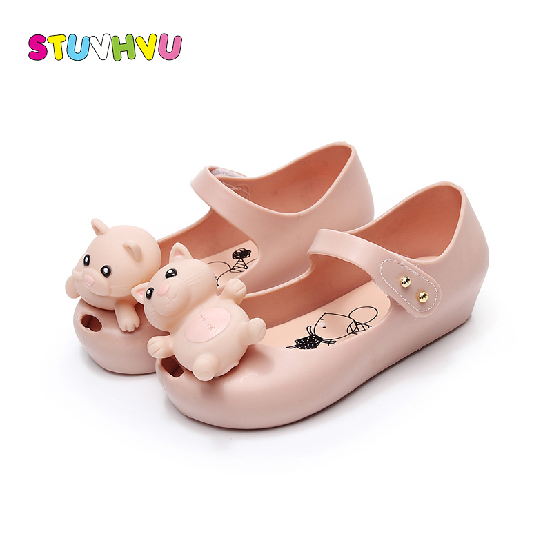 Childrens shoes cute cartoon bear jelly sandals 2018 summer new kids girls boys mini soft bottom casual shoes fish mouth sandal