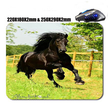 Mairuige Pentium horse 220X180X2mm & 250X290X2mm mousepad gaming pad mouse Used For Home And Office laptop gamer play mat(China)