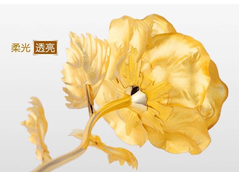 24 К золотая роза цена