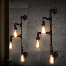 Nordic Water Pipe Loft Style Vintage Industrial Wall Light Edison Wall Lamp Fixtures For Aisle Balcony Home Lamparas De Pared nordic style industrial water pipe light edison bulb vintage aisle wall lamp home decor for cafe bar hall coffee shop club store