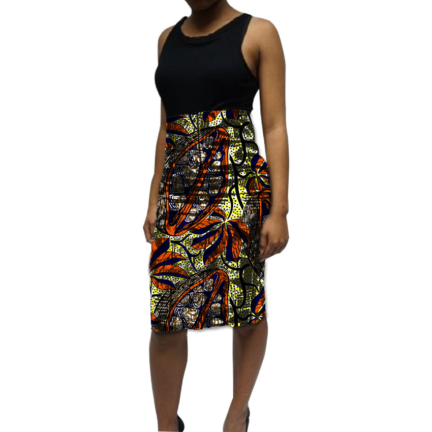 Tailor Made African Skirt Elegant Women Dashiki Clothes Wax Print Pencil Skirt For Ladies Element Festival Ankara Clothing