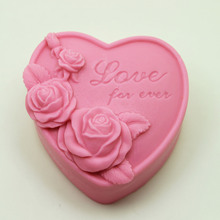 Flower silicone soap Mould handmade Cake Chocolate Heart Shape Silicone Mold