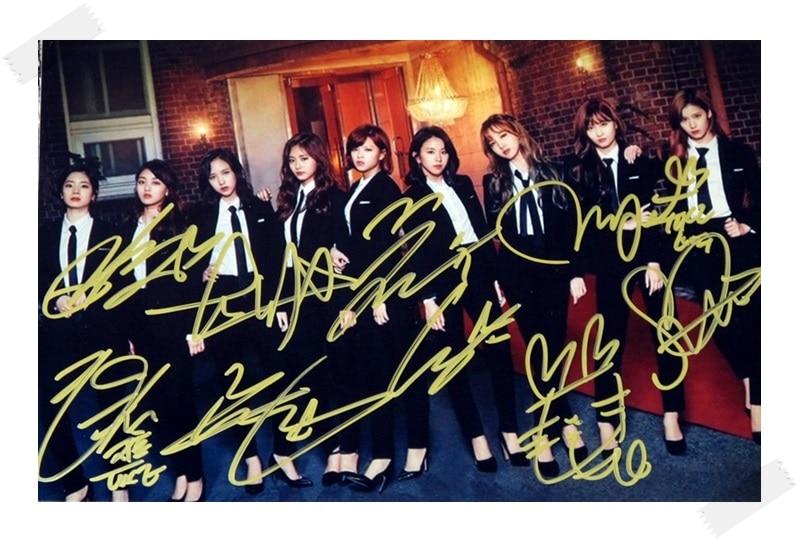 signed TWICE  autographed group photo Twicetagram  6 inches freeshipping 112017B signed tfboys jackson autographed photo 6 inches freeshipping 6 versions 082017 b