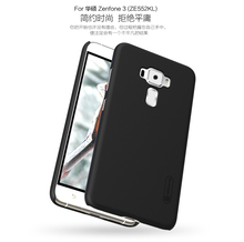 Original NILLKIN Super Frosted Shield shell Matte Rubber Back cover case for Asus Zenfone 3 ZE552KL With Free HD Flims HD-07