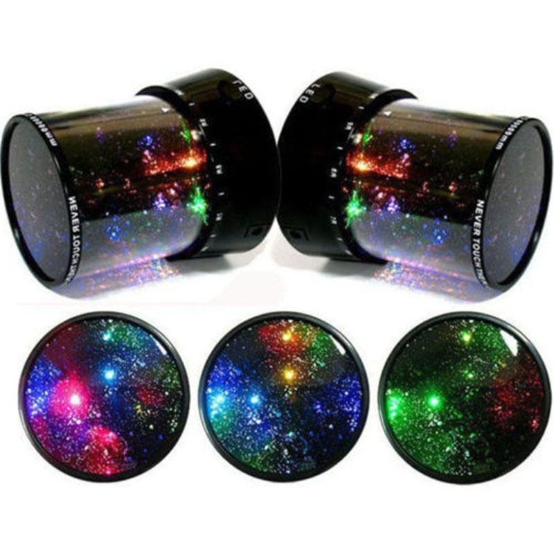 Projector Starry Sky Star Moon Master LED Night Light Children Kids Baby Sleep Romantic Colorful LED USB Projection Lam