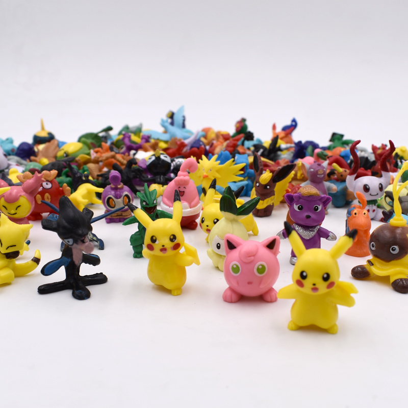 144 PCS/LOT in Random HOT Brand New Cute  Pikachu Figures Mini Monster Action Figure Toy Lot 2-3cm Christmas Gifts Free Shipping 50pcs lot 4 7cm pikachu pvc figure toys cute pocket pikachu mini action figures model toy for children gifts random delivery