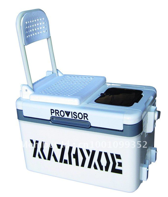 Fishing Cooler Chair Graco High Seat Cover Replacement Box For Light Within Elevator Foot And Back In
