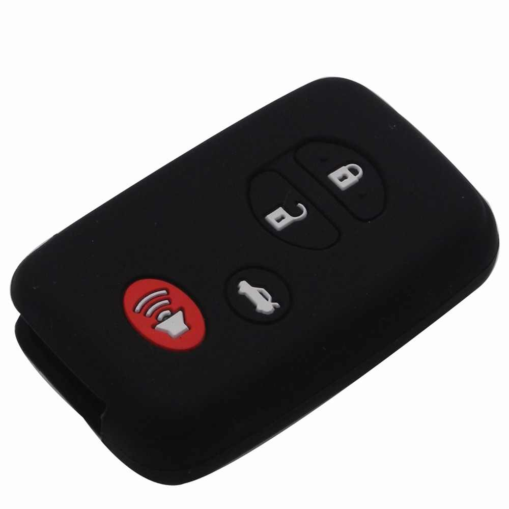 Jingyuqin 10ps 4 przyciski zdalnego silikonowa obudowa kluczyka do samochodu obudowa uchwyt dla Toyota Highlander Prius V Venza Land Cruiser