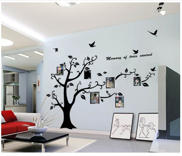 Extra Large 170x210cm Photo Frame Removable Tree Kids Living Room Art Mural Wall Sticker Decal