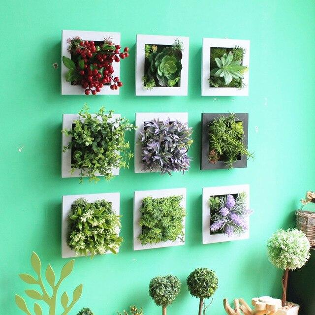 American Style Landschaft Shop Kreative Wandgestaltung Hängende Verzierung  Einzigartiges Design Simulation Pflanzen Wohnzimmer Dekor Wz