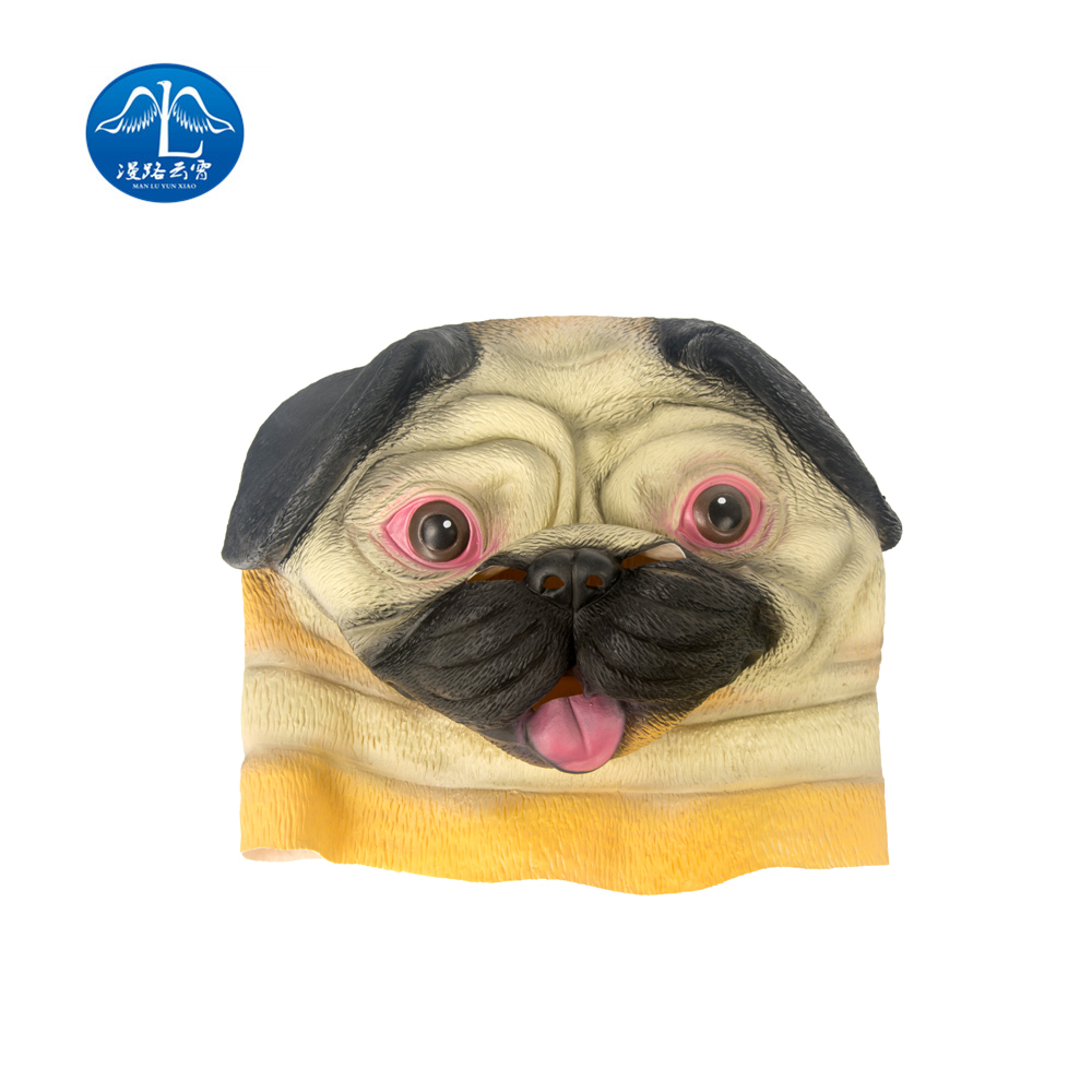 ManLuYunXiao Hot Sale Shapi Dog Cosplay Mask Children Adult Latex Mask Halloween Masquerade Party Full Face Mask Free Shipping
