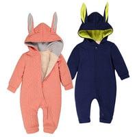 0 24m Polar Fleece Newborn Baby Boys Romper 2016 Fleece Cute Baby Girl Designers Clothes Top