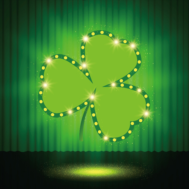 laeacco dreamy st patrick s day clover stage photo backgrounds