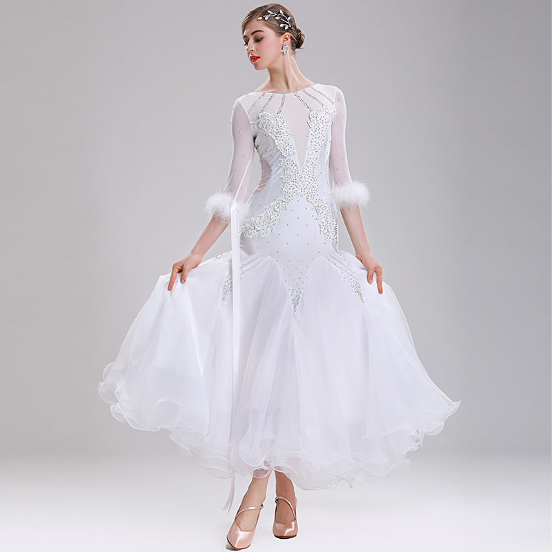 New Ballroom Waltz Modern Dance Dress Ballroom Dance Competition Dresses Standard Ballroom Dancing Clothes Tango Dress  MQ290