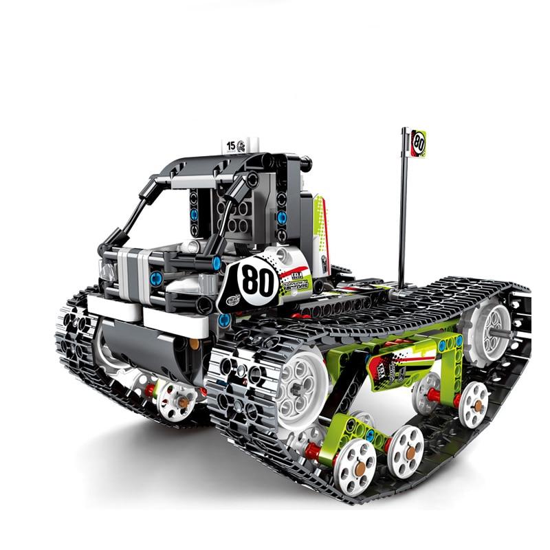 تكنيك RC مدينة تتبع المركبات اللبنات متوافق الطاقة الكهربائية على الطرق الوعرة المسار السيارات Legoed الطوب ألعاب أطفال-في حواجز من الألعاب والهوايات على  مجموعة 3