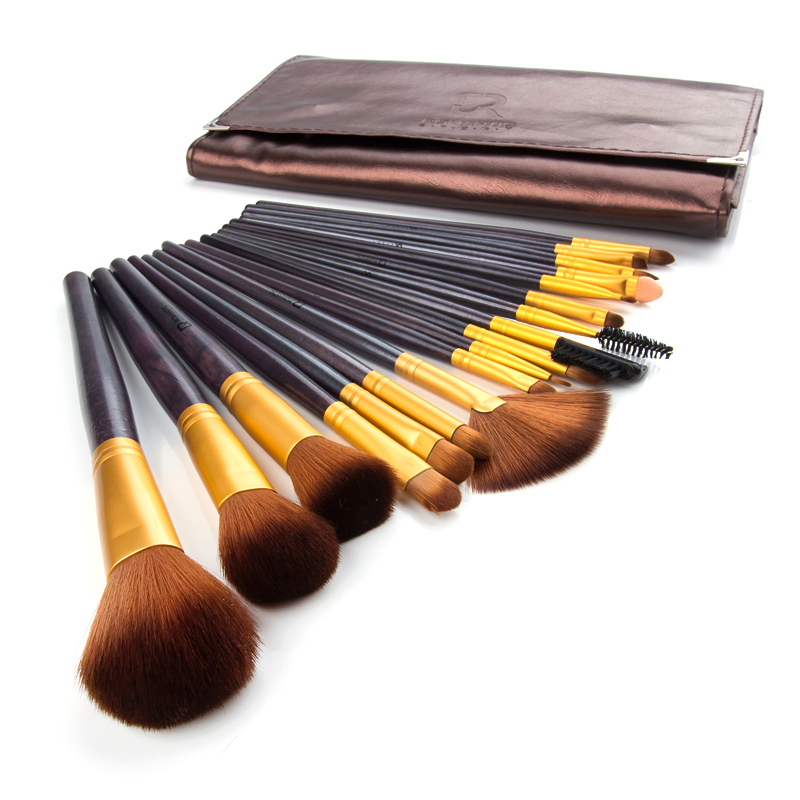 18pcs/set Makeup Brushes Sets Powder Blush Foundation Eyebrow Comb Brush Cosmetic Kits Free Shipping