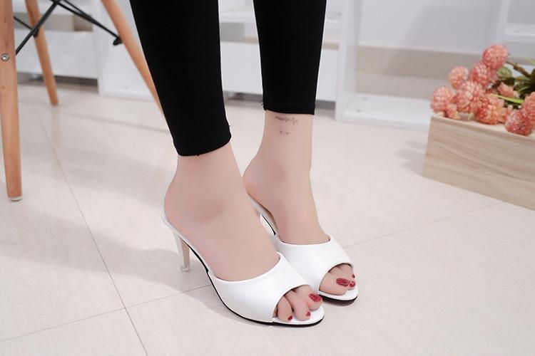 HTB1.y08bEvrK1RjSspcq6zzSXXa4 HOKSVZY Women Slipper 2019 Slippers women's Fashion Wear Stiletto Fish Mouth Stiletto Sandals Slippers women's Sandals FZZ-2902