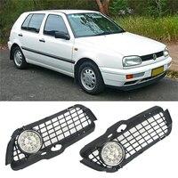 1 쌍의 왼쪽 운전 안개 램프 안개 빛 & 크롬 링 그릴 및