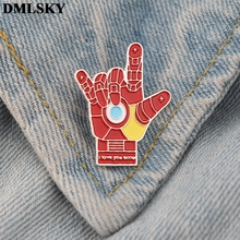 DMLSKY Fashion Cool Enamel Pins and Brooches Lapel Pin Backpack Bags Badge Clothes Brooch Jewelry Gifts M3680