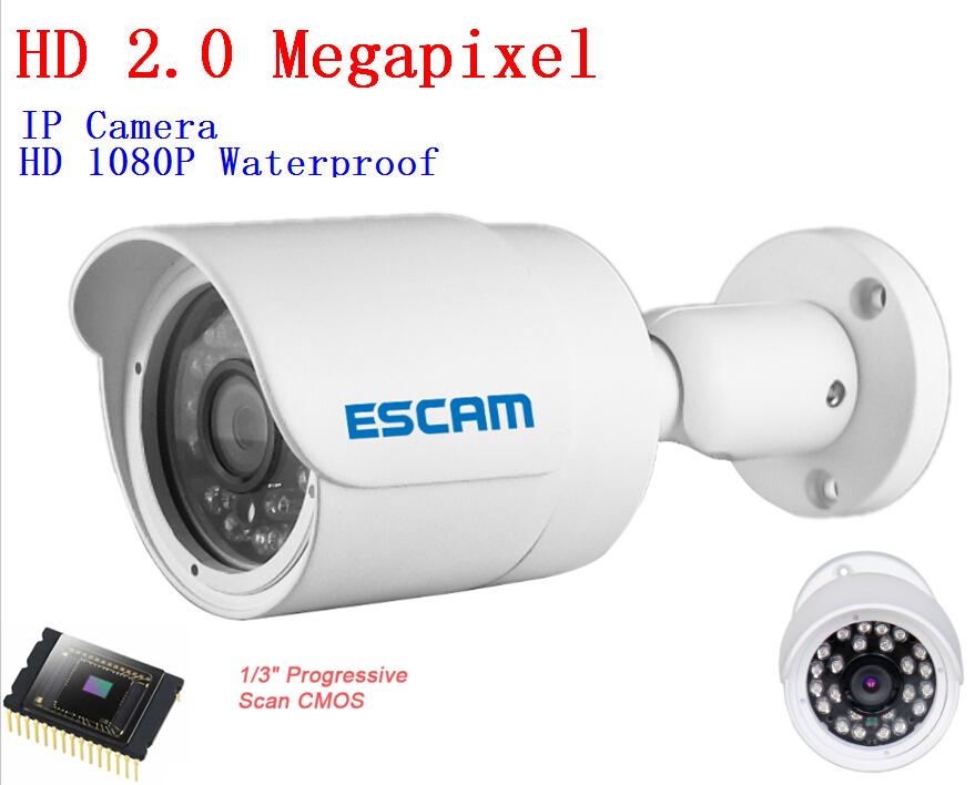 ESCAM HD3100 Mini 1080P HD Surveillance P2P IP Camera 2 0 Megapixel Waterproof Day Night Infrared