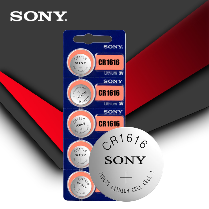 5 pc/lote sony 100% original cr1616 botão bateria celular para relógio de carro remoto chave cr 1616 ecr1616 gpcr1616 3v bateria de lítio