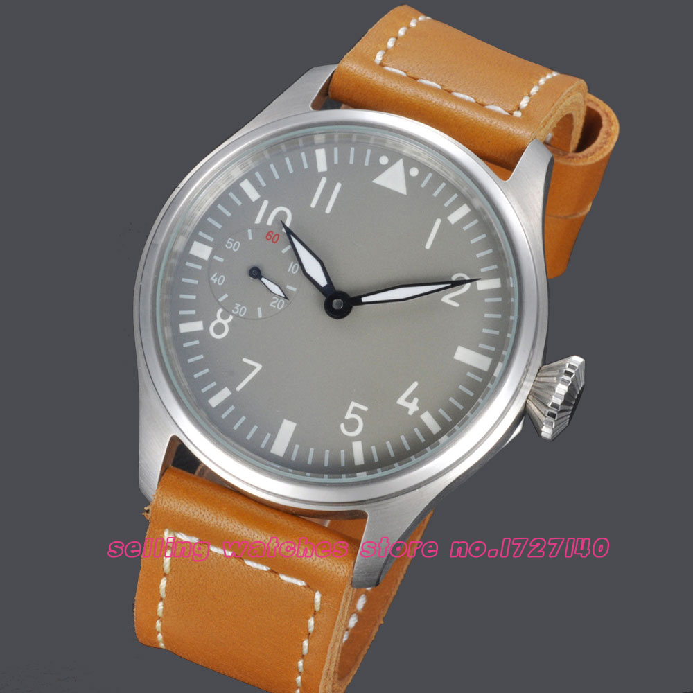47mm Parnis Ash white dial Special @9 MECHANICAL manuel winding mens Watch manuel ritz white джинсовые бермуды