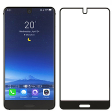 цена на For Sharp Aquos S2 5.5 inch Screen Protector Protective Film Full Cover Black Tempered Glass
