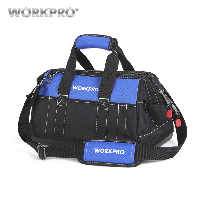 все цены на WORKPRO 2018 New Tool Bags Waterproof Travel Bags Men Crossbody Bag Tool Storage Bags with Waterproof Base Free Shipping онлайн