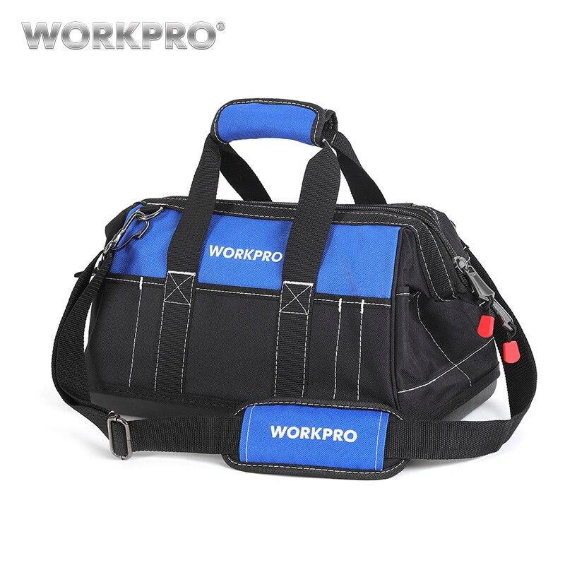 WORKPRO 2018 nueva herramienta del recorrido impermeable bolsos hombres Crossbody bolsa de herramientas bolsas de almacenamiento con Base impermeable envío libre