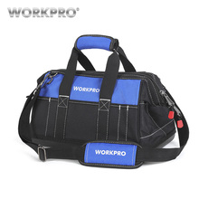 WORKPRO Tool Bags Waterproof Travel Bags Men Crossbody Bag Tool Storage Bags with Waterproof Base Free Shipping free shipping tool bags oxford waterproof fabric electrical tool bag storage box multi bags tool belt saddle bag ad1030