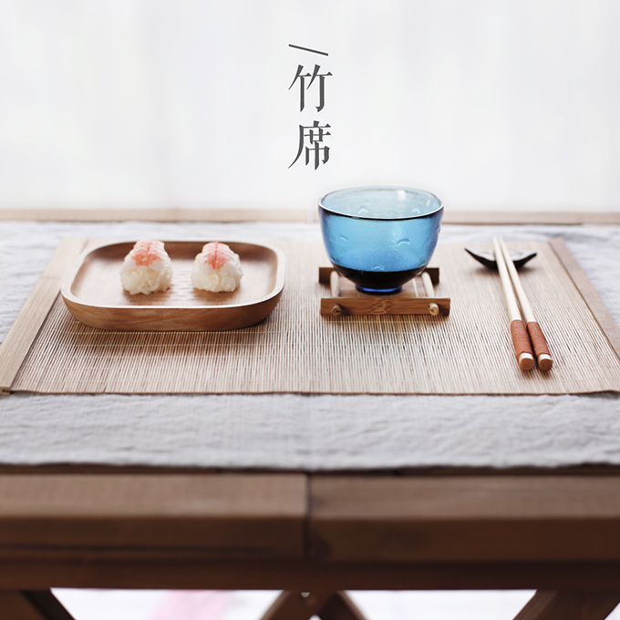 Japanese Style Bamboo Placemats For Table Insulation Bamboo Mat Kitchen Accessories Table Mats