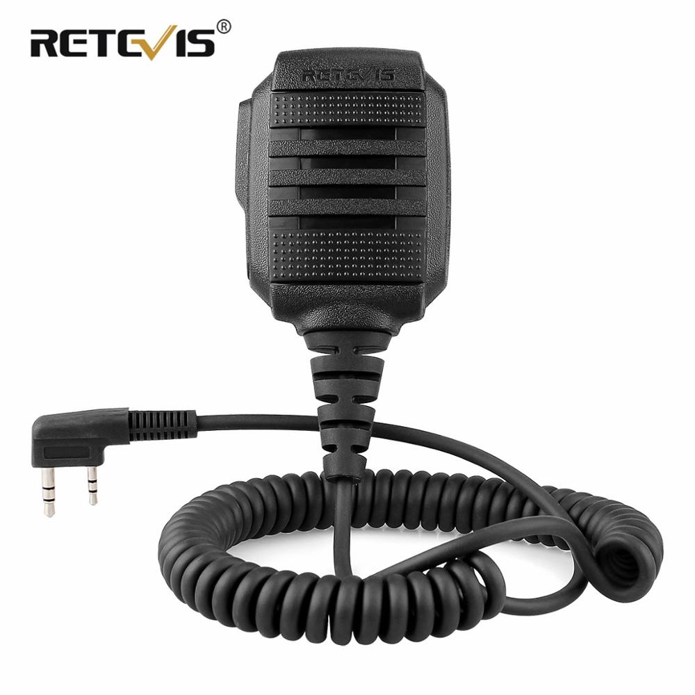 RETEVIS RS 114 IP54 Waterproof Speaker Microphone For Kenwood RETEVIS H777 RT5R RT22 RT81 BAOFENG UV 5R UV 82 888S Walkie Talkie-in Walkie Talkie from Cellphones & Telecommunications