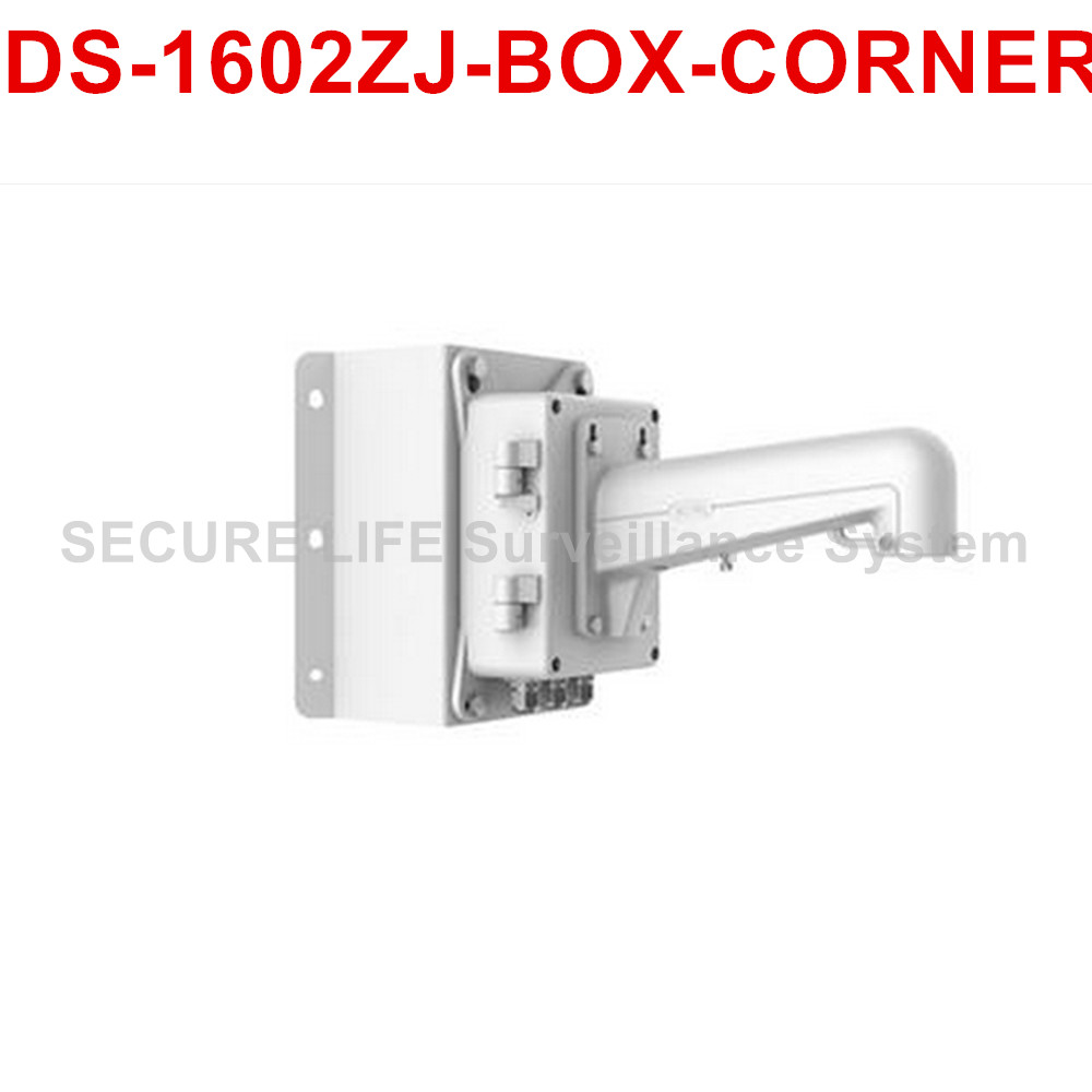 DS-1602ZJ-BOX-CORNER CCTV camera Corner Mount Bracket with junction box ds 1602zj box corner ptz camera bracket corner mount bracket with junction box