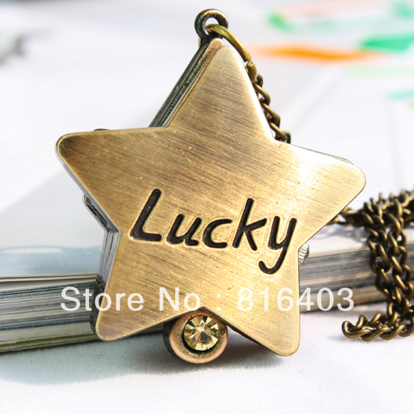 Free shipping christmas alloy vintage pocket timepiece wrist necklace memory jewelry ornament watches with chain