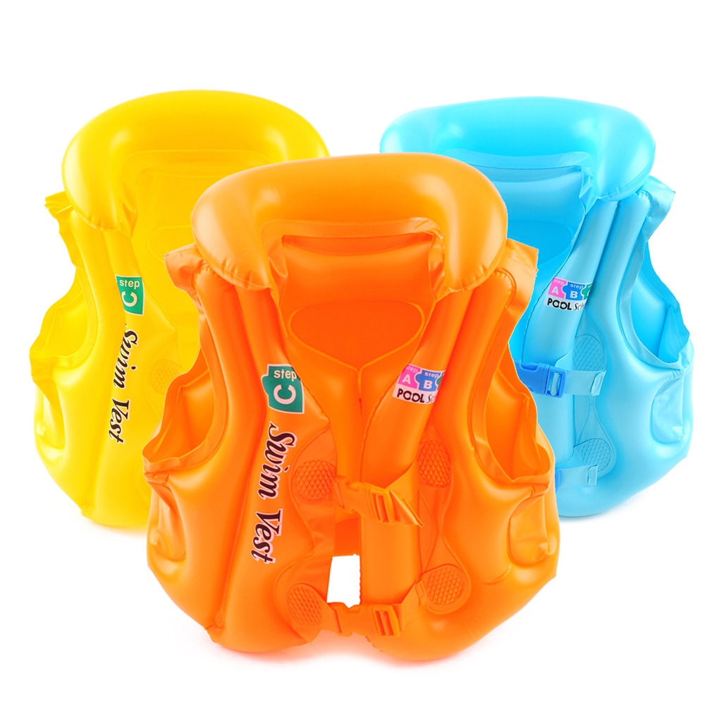 PVC Children's Inflatable Swimwear Vest Baby Children's Life Jacket Summer Beach Tourism Swimming Auxiliary Water Sports