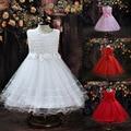 Kids Girl Dress Rose Petal Bow Baby Girl Princess Dress 2-8 Years Children Wedding Birthday Party Clothes vestidos de menina