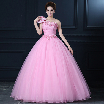 Free ship pink lace bowknot shoulder ball gown long dress Medieval dress Renaissance gown royal dress Victoria dress