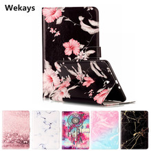 Wekays Tablet Case For Samsung Galaxy Tab E 9.6 T560 T561 Cover Flip Leather PU Stand Kickstand Cartoon Windbell Funfas