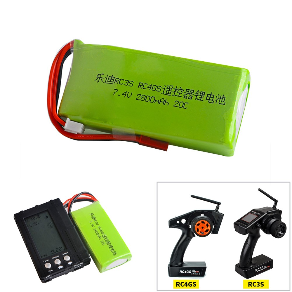 1pcs Li-Polymer <font><b>2S</b></font> 7.4V <font><b>2800mah</b></font> 20C <font><b>Lipo</b></font> Battery For Radiolink RC3S RC4GS RC6GS Transmitter image