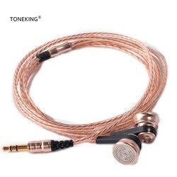 AK najnowszy MusicMaker TONEKING ROS1 18ohm impedancja metalowa wkładka douszna 14mm jednostka napędowa wokalna wkładka douszna z wtyczką kabla OFC w Słuchawki douszne od Elektronika użytkowa na