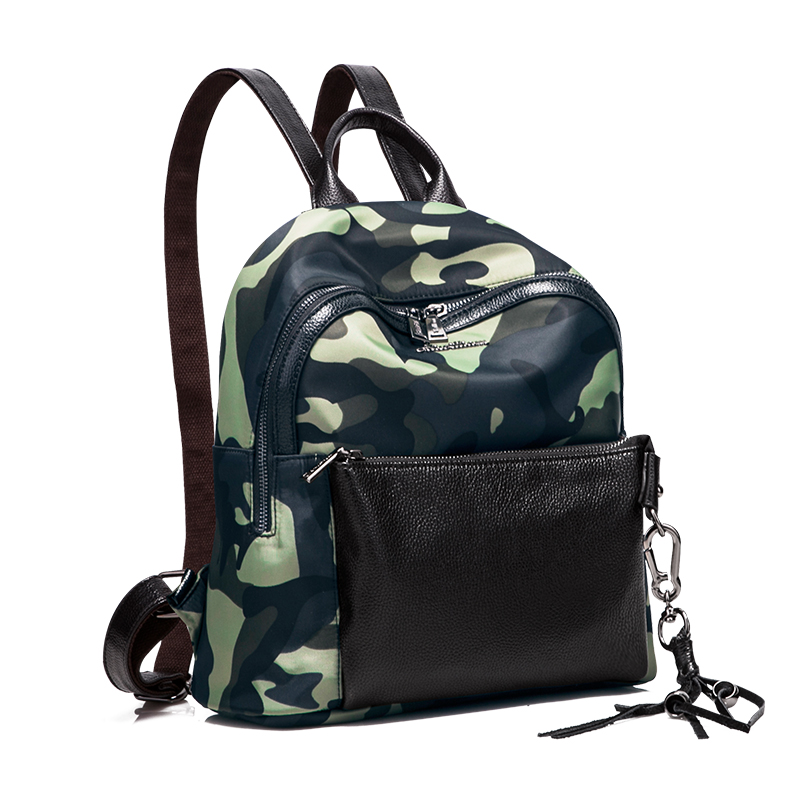 2017 New Camouflage Backpack High Quality Zipper Schoolbag Lady Retro Female Single Shoulder Bag Fashion Cool